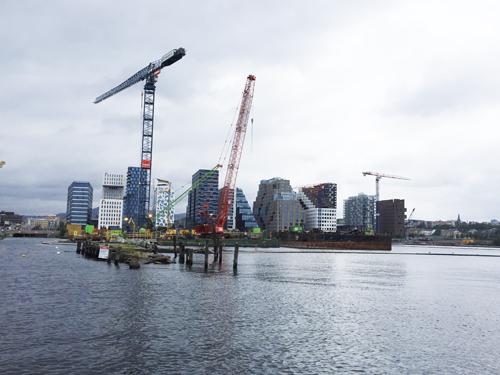 Barcode, Oslo. Här byggs nya huvudbiblioteket och Munch-museet.