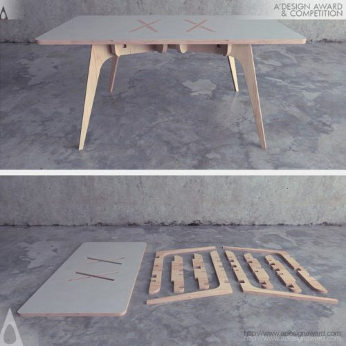 Double X Table by Saïd Belmir