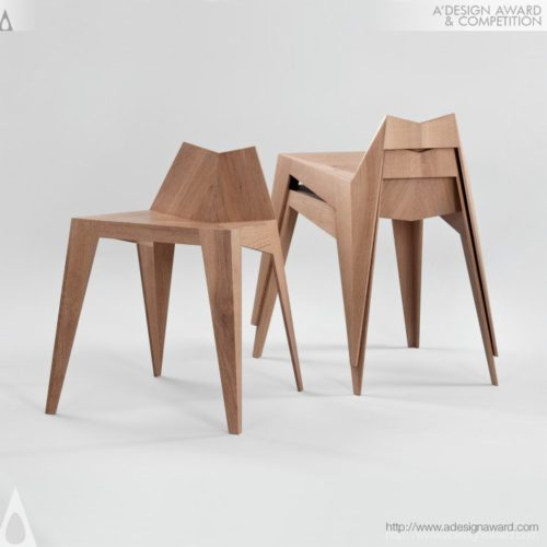 Stocker Chair - Stool by FREUDWERK, Matthias Scherzinger