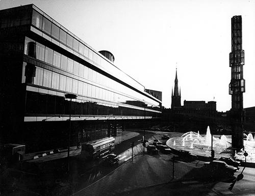 Kulturhuset Stockholm Vy mot sydväst Foto: Gösta Glase 1970-tal HX.xx.xx-02