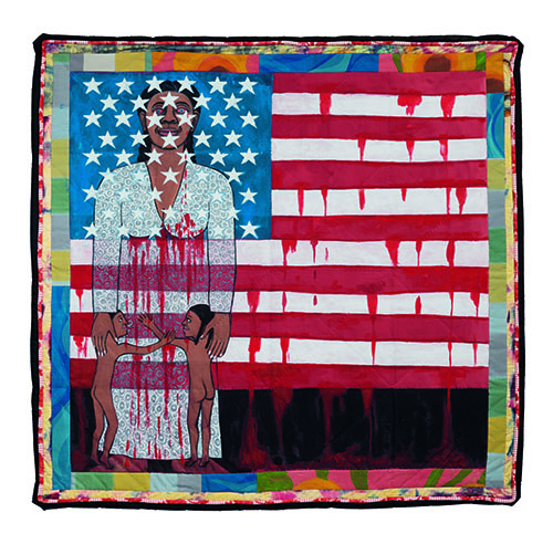 Faith Ringold - The American Collection #6_ The Flag is Bleeding 2